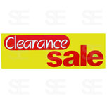 12 X 35 SIGN/ CLEARANCE SALE- RED SALE, ON YELLOW