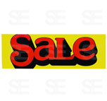 12 X 35 SIGN/ BIG SALE-RED LETTERS ON YELLOW BG.