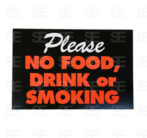 6 X 9 SIGN / NO FOOD
