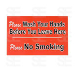 7 X 11 SIGN/ PLEASE WASH YOUR HANDS BEFORE YOU LEAVE HERE