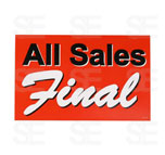 7 X 11 SIGN / ALL SALES FINAL