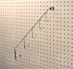 PEG BOARD 5 HOOK SLANT BRACKET