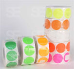 NEON  1 AND 1/2 INCH ROUND STICKER- XLARGE