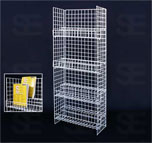 WIRE DISPLAY W/ 4 PCS 2TIER SHELVES